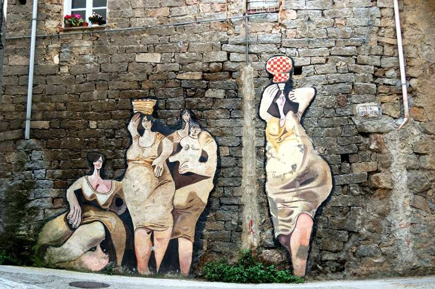 sardinia, mural, graffiti art