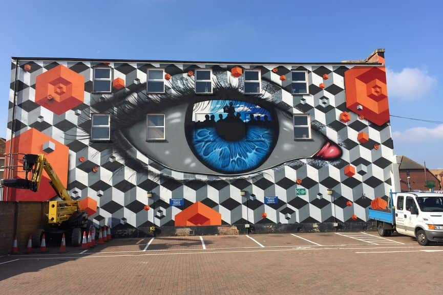 My Dog Sighs, wall