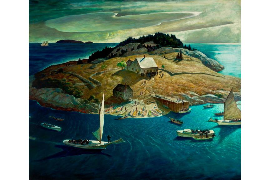 N C Wyeth - Island Funeral