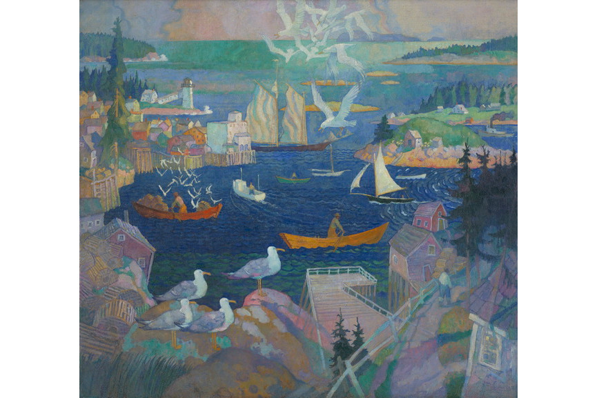 N C Wyeth - The Harbor and Herring Gut