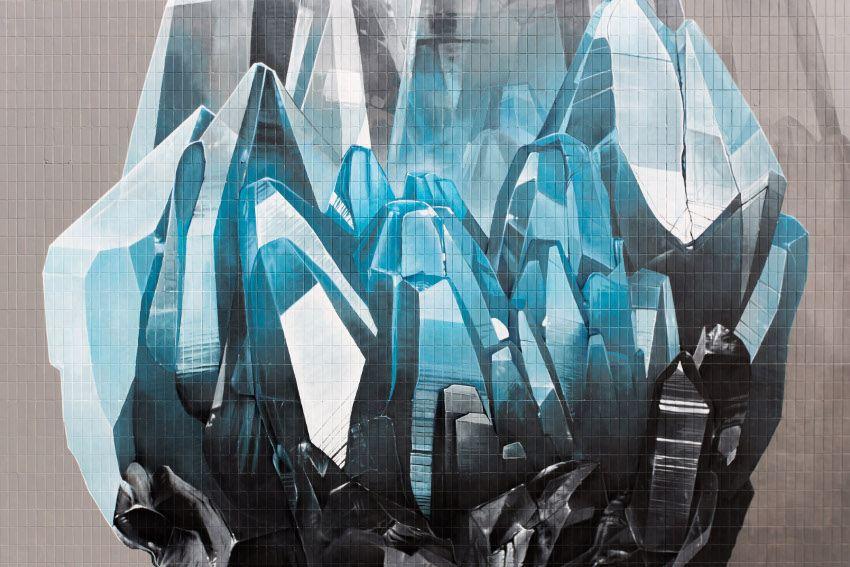 NEVERCREW - Inhuman Barriers, detail #1, Cities of Hope, Manchester, UK, 2016
