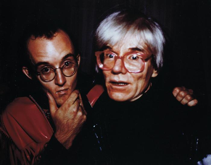 Nan Goldin-Andy Warhol and Keith Haring at Palladium, N.Y.-1985