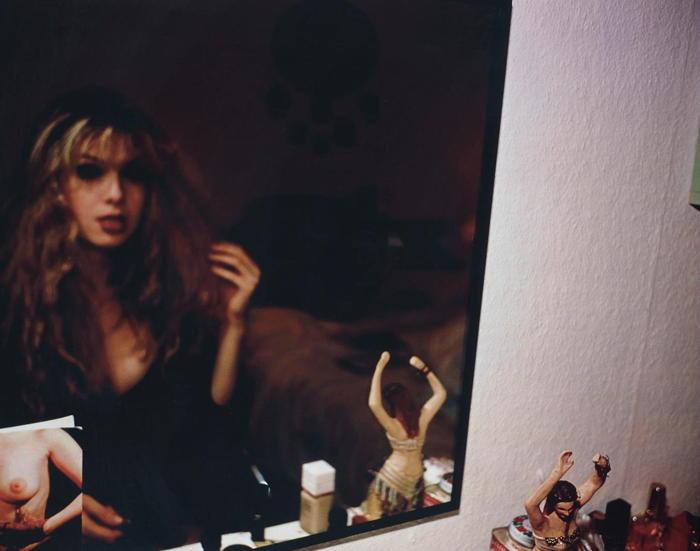 Nan Goldin-Joey in front of my mirror, Berlin-1992