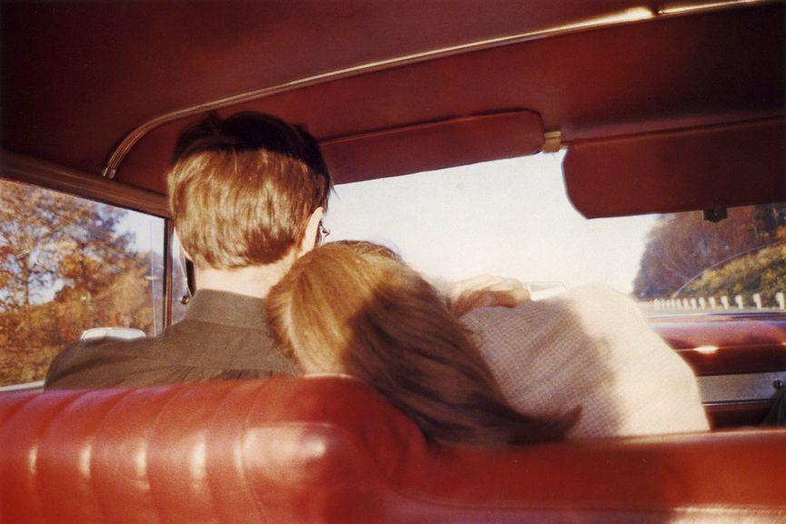Nan Goldin - Kim and Mark in the red car, Newton, Mass., 1978