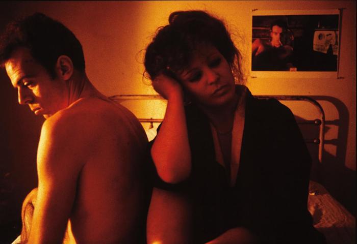 Nan Goldin-Nan and Brian in bed in Kimono, NYC-1983
