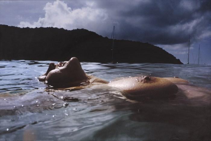 Nan Goldin-Valerie Floating Mayreau Island Antilles-2001