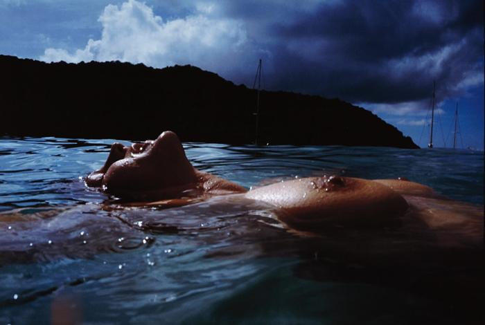 Nan Goldin-Valerie Floating in the Sea, Mayreaux-2001