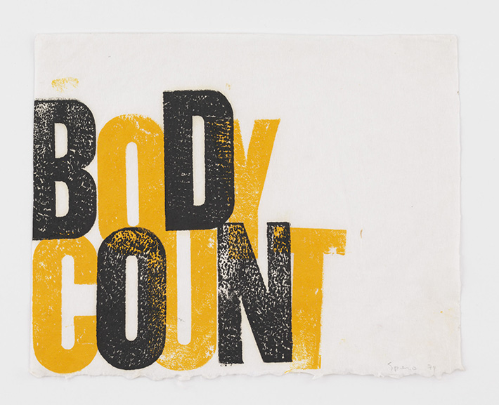 Nancy Spero - Body Count, 1974