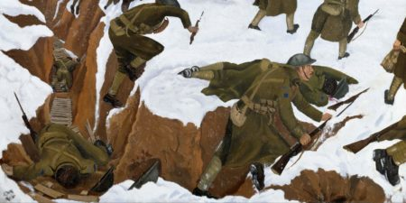 Nash John - Over The Top, 1918 (Detail) - Copyright Imperial War Museums