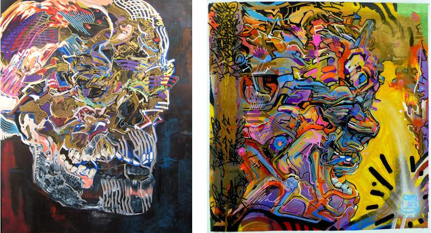 Nassyo - Installation Capitale, 2010 (Left) / Untitled (Right)