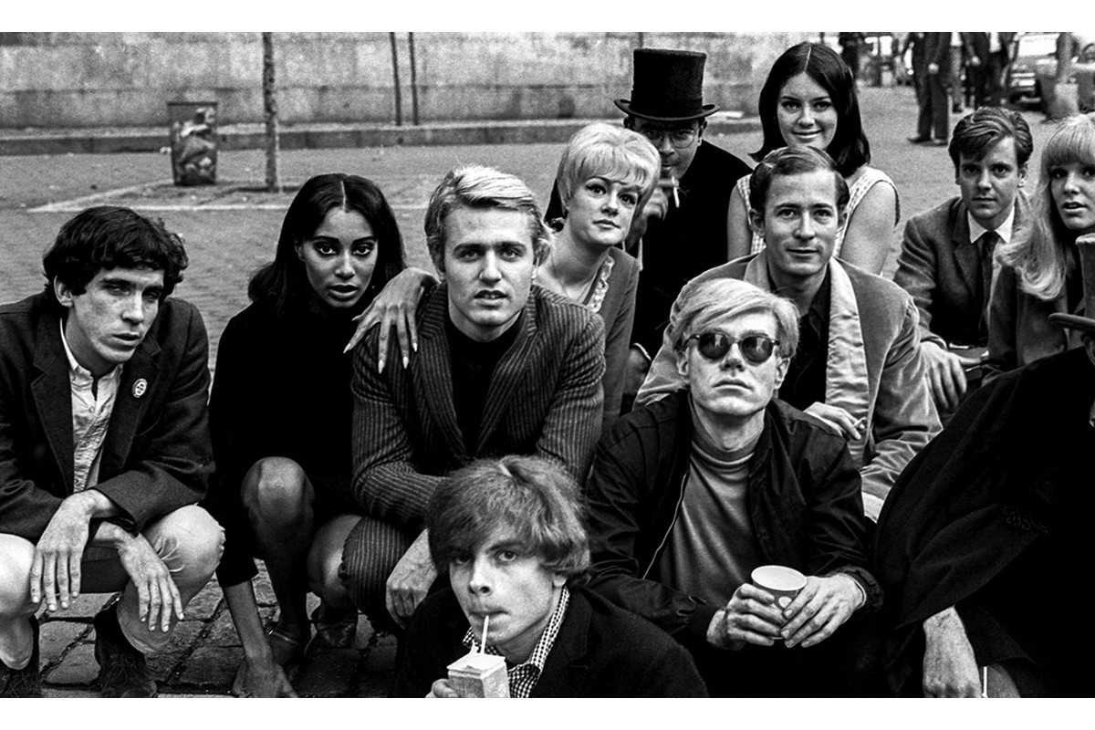 Nat Finkelstein - Andy Warhol with Group at Bus Stop
