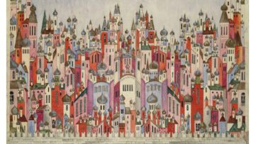 Natalia Goncharova - Set design for the final scene of The Firebird