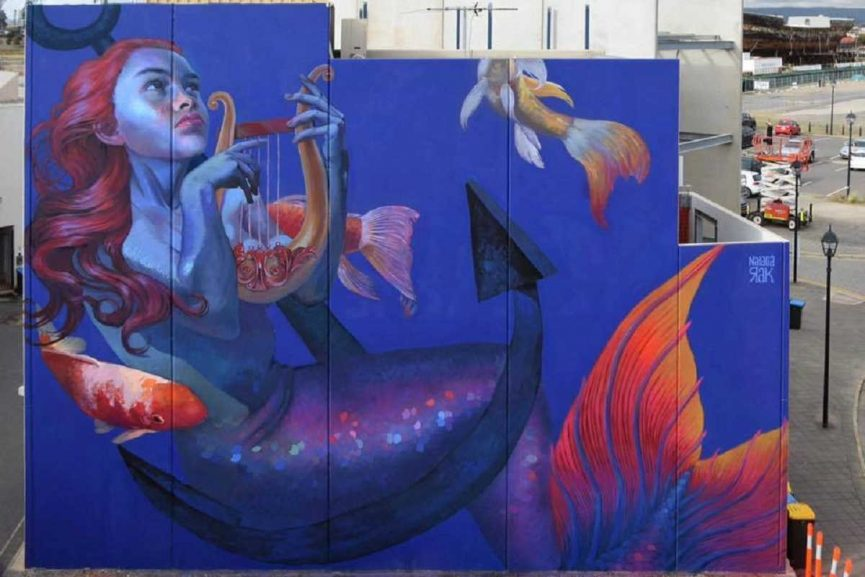 Natalia Rak - Mermaid Song, Port Adelaide, Australia. Image via plus.google.com