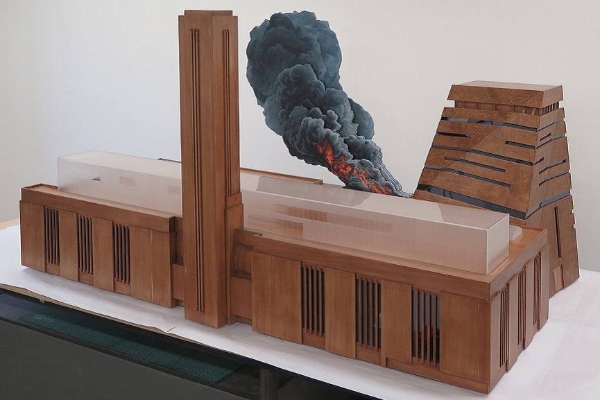 Nathan Coley -Tate Modern on Fire 1.