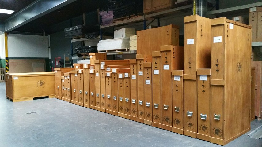 A photo taken within a Natural Le Coultre storage room