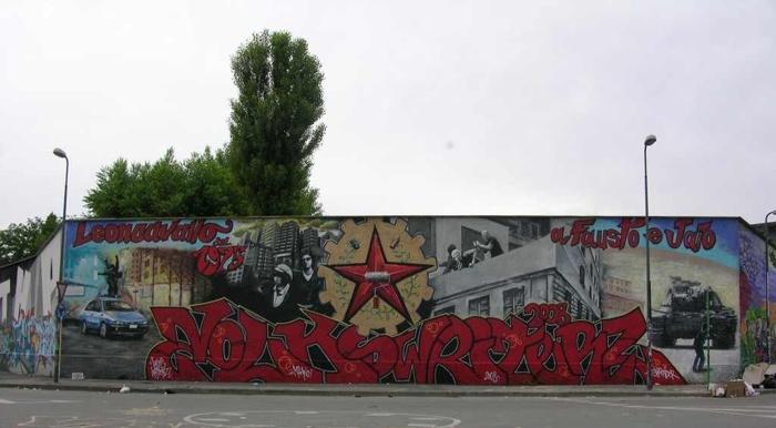 Neve - Graffiti on Milan Leoncavallo center, 2008