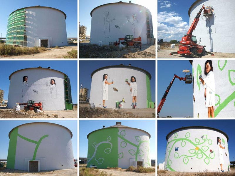 Neve - Mural for ENI, 2011