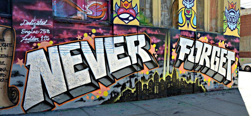Never Forget - Image via newyorkcityinthewitofaneye.com