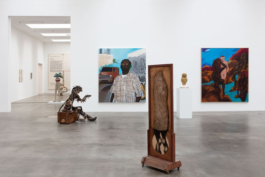 New Images of Man, Installation view, on view at Blum and Poe Gallery in Los Angeles