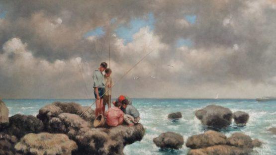 Nicholas Butler - copy of Pescatori di telline by Francesco Lojacono, 2018 (detail)