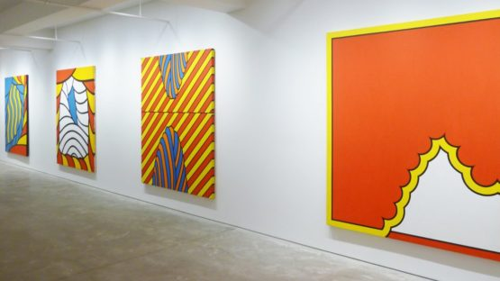 Nicholas Krushenick - A Survey - solo show at Gary Snyder Gallery - 2011 - installation view