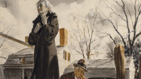Nicholas Riley - A Mans Mother, Saturday Evening Post, 1940 (detail)