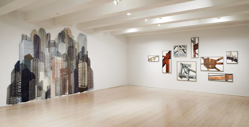 Nicola Lopez - installation view, solo show Land of Illusion, 2013, Pace Prints, Chelsea, NY,  photo credits - Pace Prints