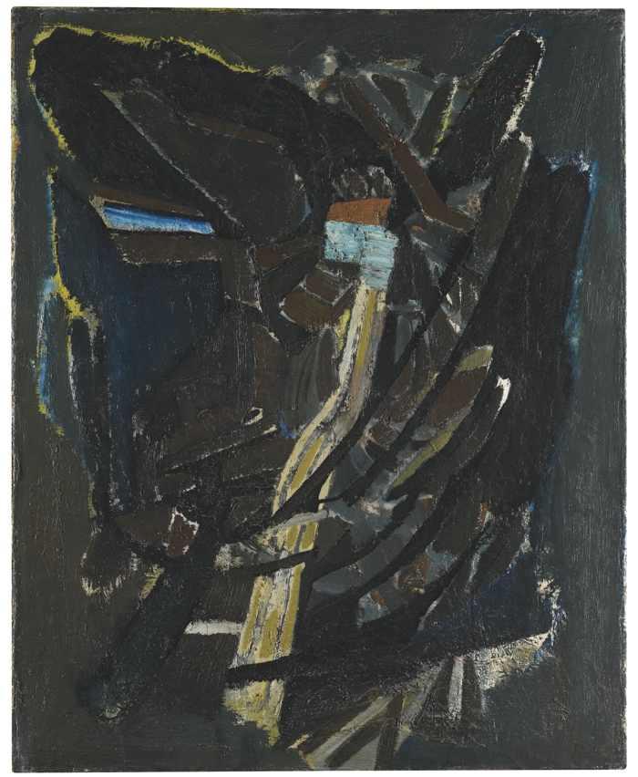 Nicolas de Stael-Composition En Bleu-1945