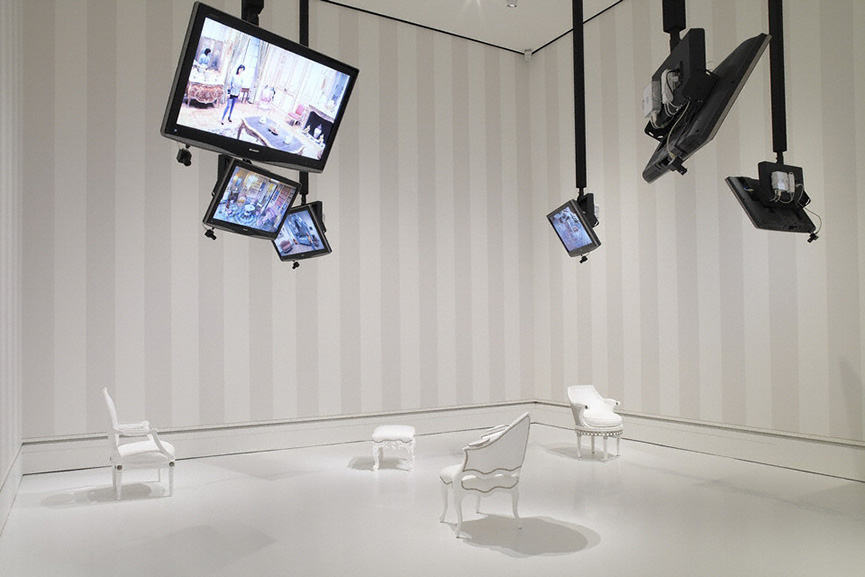 Nicole Cohen - Please Be Seated video installation at J. Paul Getty Museum, 2007