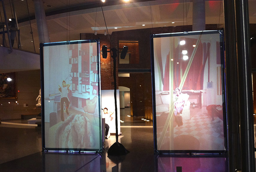 Nicole Cohen - Studio Visits, An Interactive Video Installation at The Brooklyn Museum of Art 2