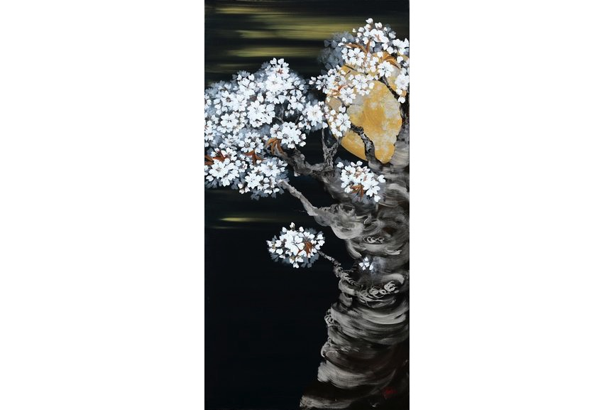 Nicole Pon Horvath - Full Moon And Cherry Blossom, 2012