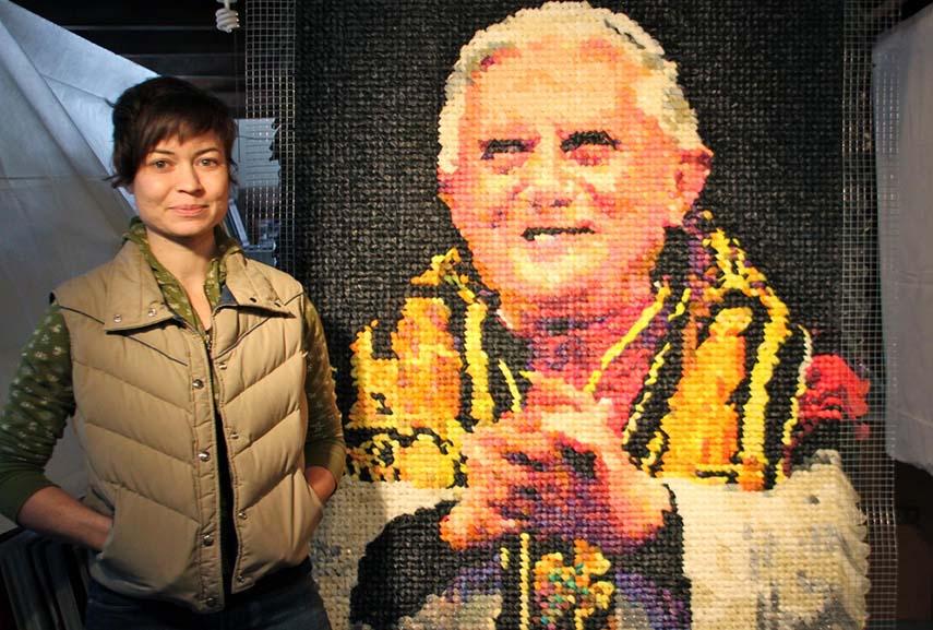 pope, condoms, milwaukee art museum