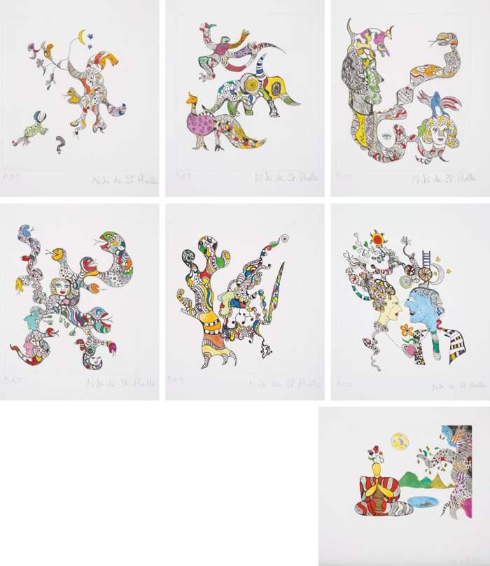 Niki de Saint Phalle-Group of seven prints-2000