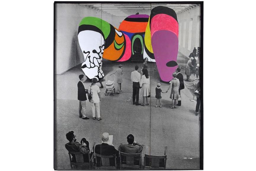 Niki de Saint Phalle. Photo de la Hon repeinte. 1979