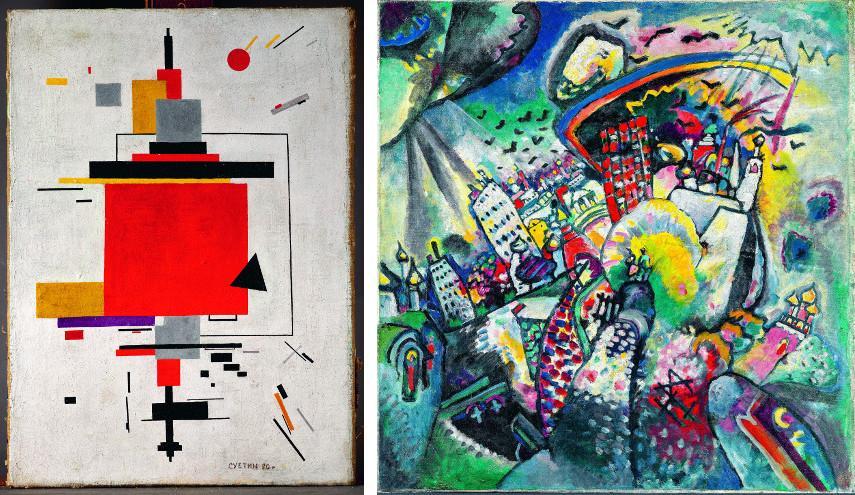 Nikolaï Souiétine - Composition, 1920 - Vassily Kandinsky - Moscow, Red Square, 1916
