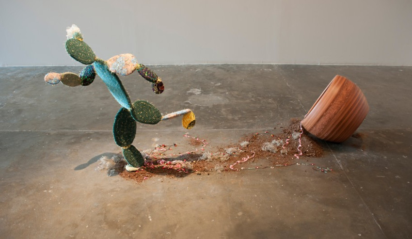 Nilbar Gures - Escaping Cactus, 2014. Image via Galerie Martin Janda