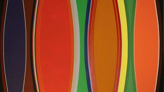 Noriko Yamamoto - Horizon 10 (detail), c 1972, Acrylic on canvas