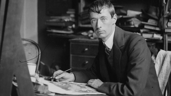 Norman Lindsay - artist, ca. 1900-1912, photo by Lionel Lindsa, photo credits - Flickr
