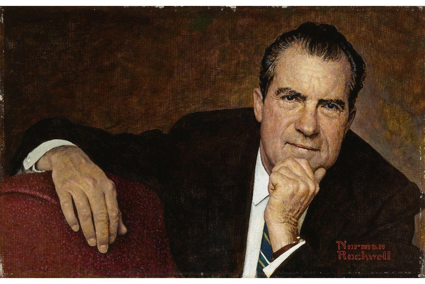 Norman Rockwell - Richard Nixon, Oil on canvas, 1968, george john bush george john bush bush