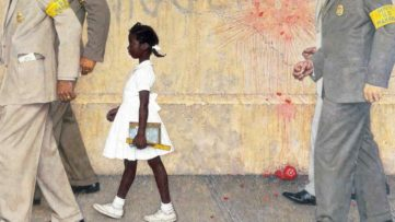 Norman Rockwell - The Problem We All Live With, 1964, detail