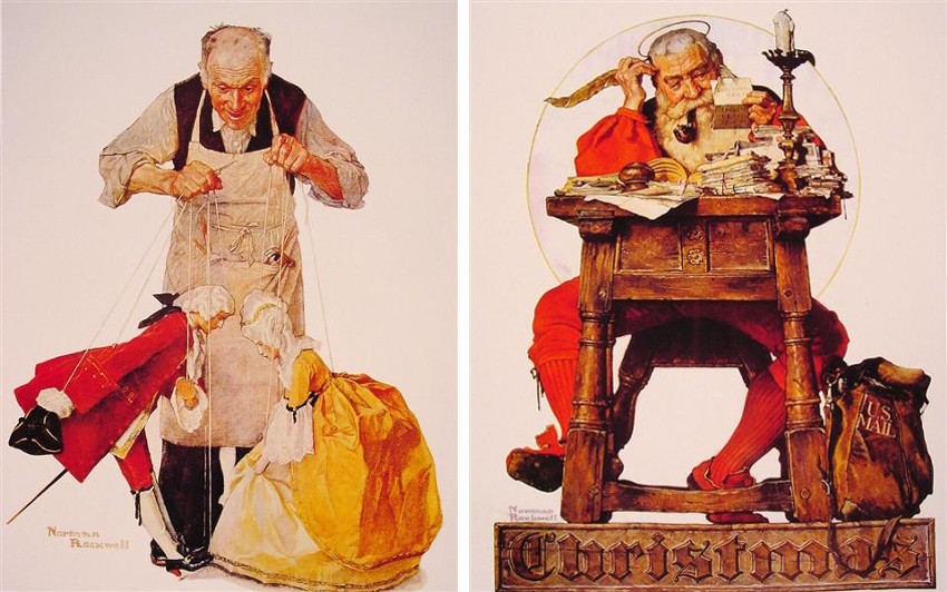Norman Rockwell saturday post evening new york cover work is history museum and gallery material
