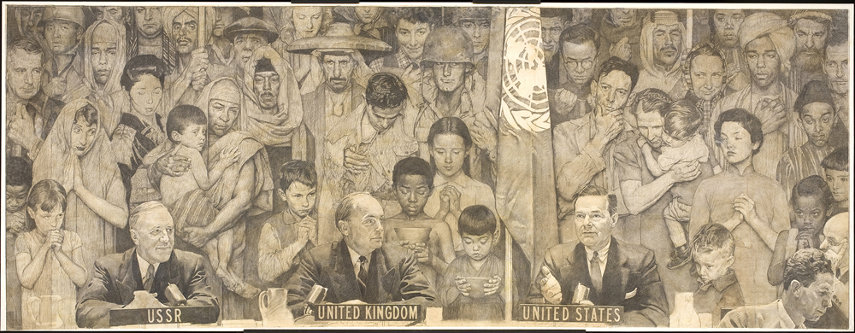 United Nations painting by Norman Rockwell