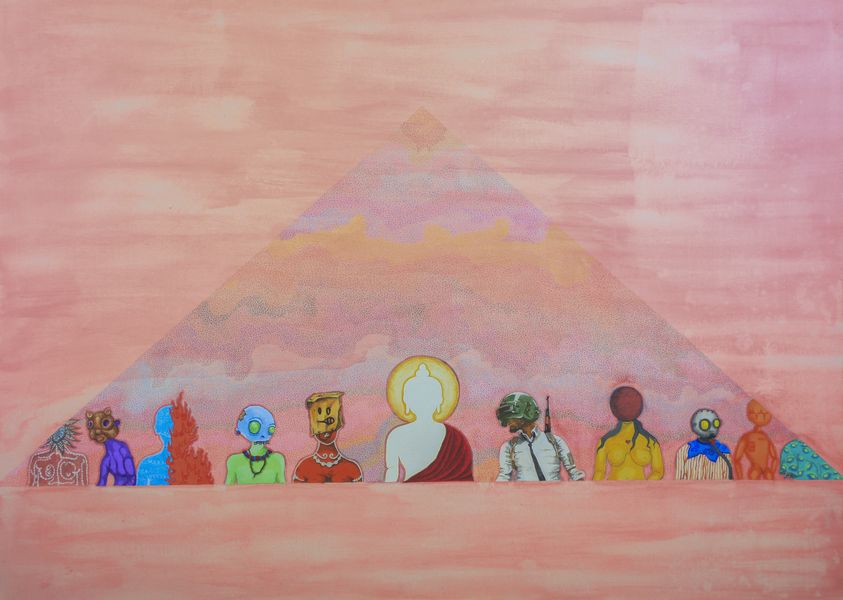 Nornor - Pyramid, iTibet Art Space at 2018 edition of Asia Contemporary Art Shows