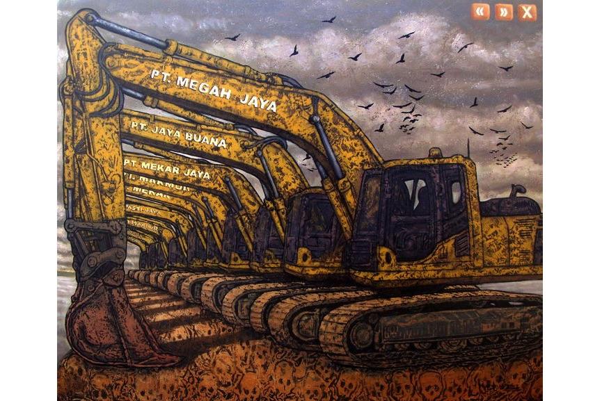Nugroho Heri Cahyono - Building a Bridge (New Machine Series), 2012