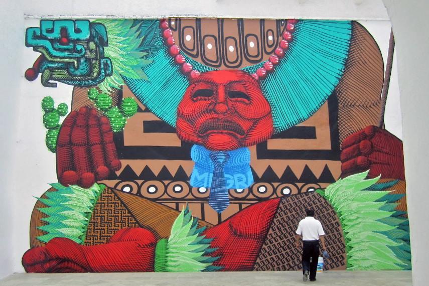 street mural in Oaxaca