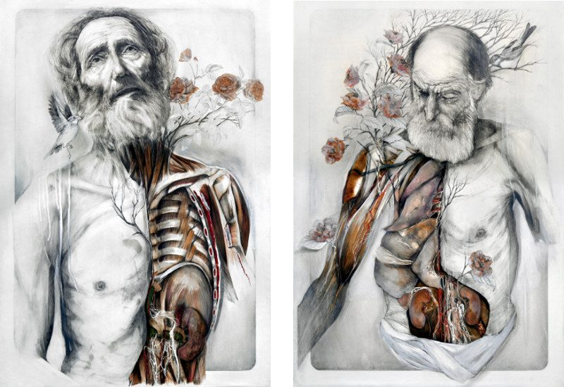 NunzioPaci - A place to rest (Left) / Forgetting the scent (Right) - pencil
