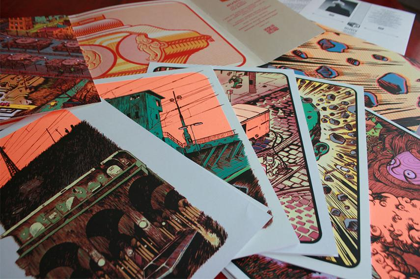 Nusle - Screen prints post exhibition event galerie september 2014