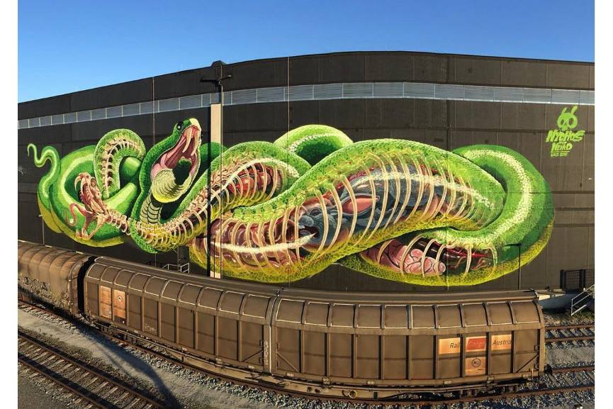 Nychos - Translucent Serpent, via streetartnews
