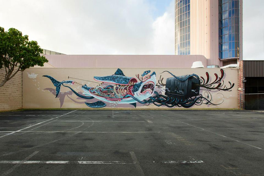 Dissected animal mural