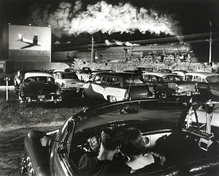 O. Winston Link-Hot Shot Eastbound at the Iaeger Drive-in, West Virginia-1956